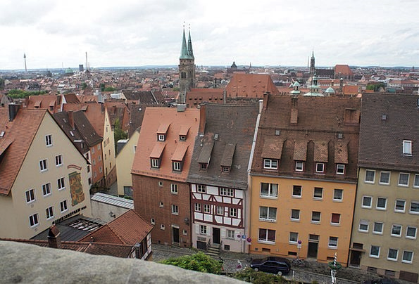 Nuremberg Old Town Cityscape Homes Families City V