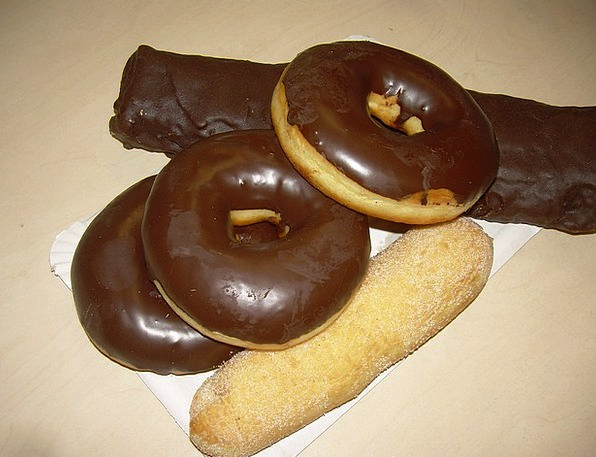 Donuts Drink Pie Food Sweet Sugary Pastry Pastries
