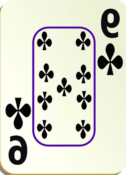 Spades Shovels 9 Nine Leisure Card Postcard Border