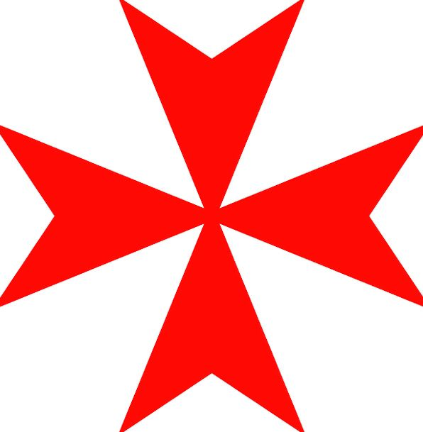 Cross Irritated Bloodshot Maltese Red Sign Symbol