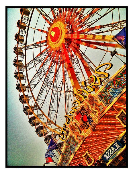 Year Market Sky Blue Ferris Wheel Hamburg Folk Fes