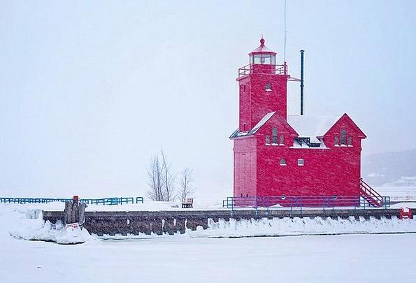 Lighthouse Landscapes Season Nature Red Bloodshot