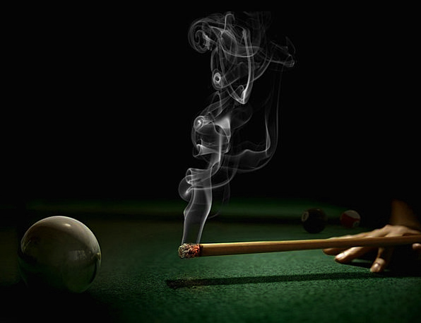 At On With By Billiards Cigarette Roll-up