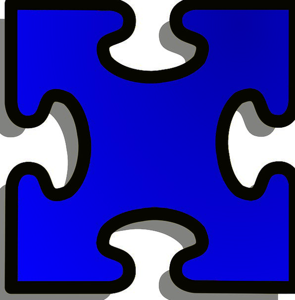 Jigsaw Mystery Piece Part Puzzle Challenge Shape F