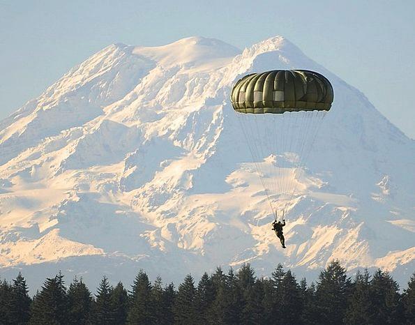 Parachute Free-fall Landscapes Nature Parachutist