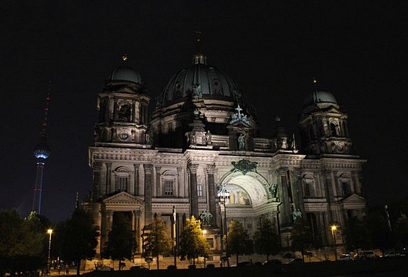 Berlin Cathedral Buildings Nightly Architecture Be