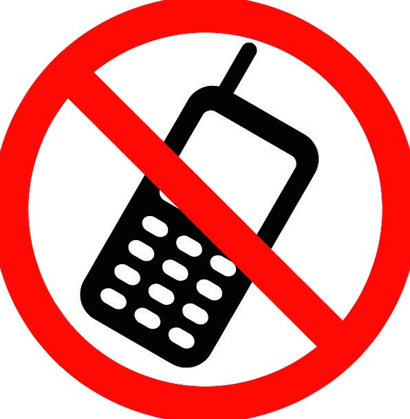 No Cellphones Signage Cellphone Not Allowed Symbol