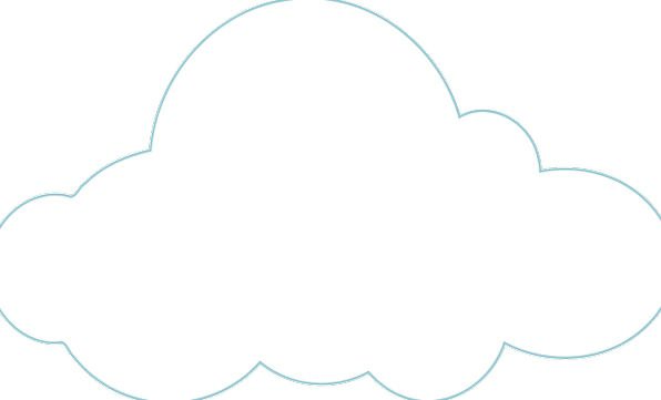 Cloud Mist Blue White Snowy Sky Outline Plan Free