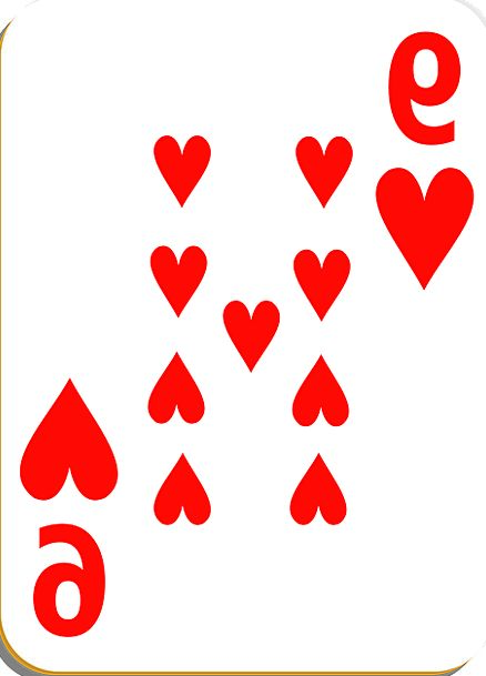 Nine Emotions Playing Live Hearts Cards Postcards