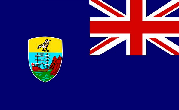 Saint Standard Helena Flag Symbol Sign British Ove