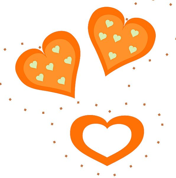 Hearts Emotions Forms Orange Carroty Shapes Valent