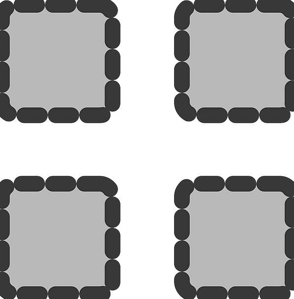 Thumbnails Scattered Square Four-sided Dotted Acti