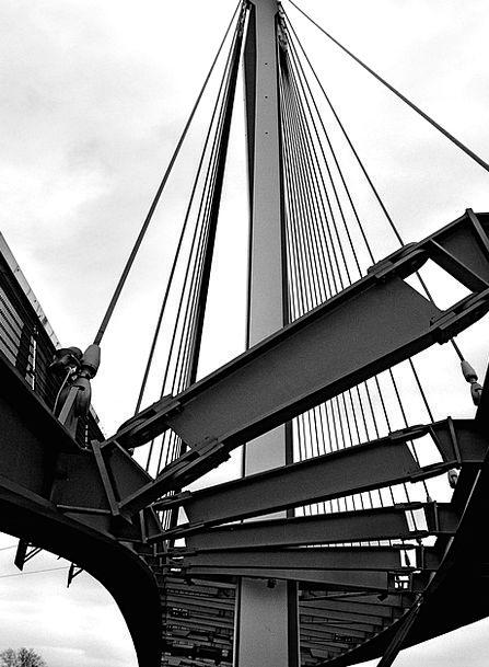 Suspension Bridge Viaduct Buildings Bond Architect