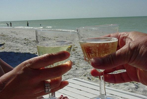 Champagne Bubbly Vacation Seashore Travel Sand Shi
