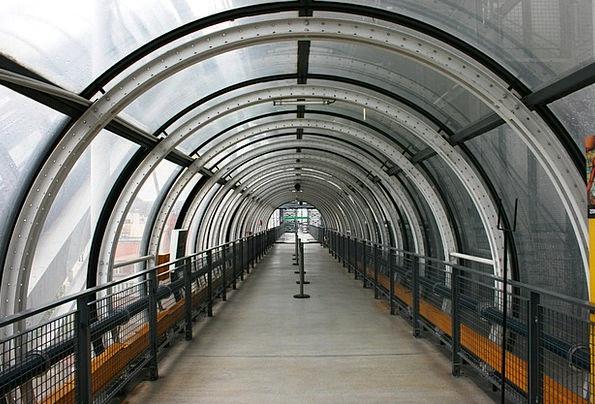 Pompidou Channel Modern Architecture Tunnel Paris