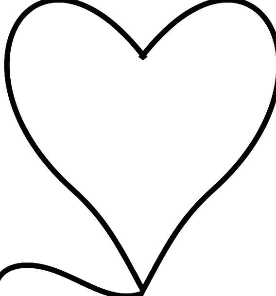 Heart Emotion Shape Form Symbol Romance Sign Black