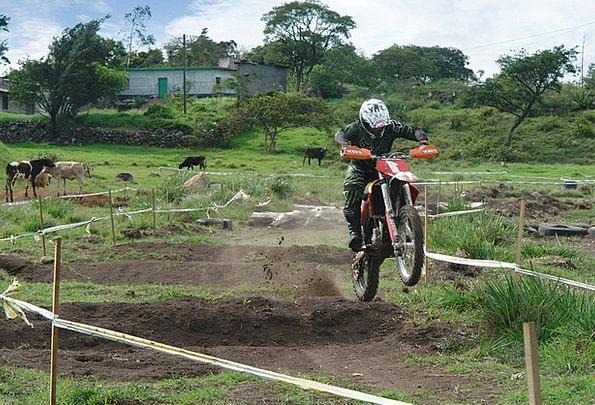 Motorcyclist Biker Scrambling Track Path Motocross
