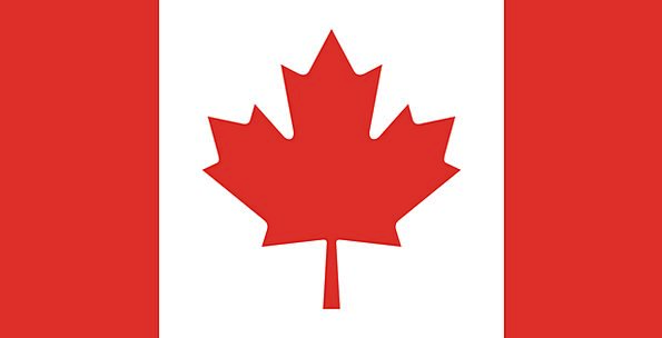 Canada Standard Canadian Flag Symbol Sign National