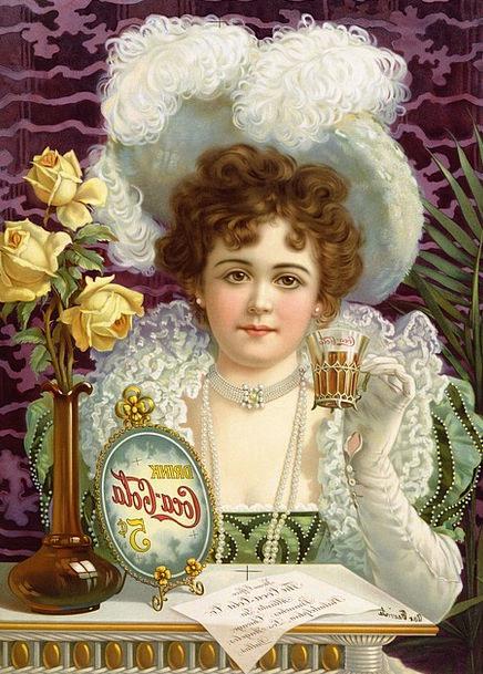 Coca Cola Fashion Publicity Beauty 1890 Advertisin