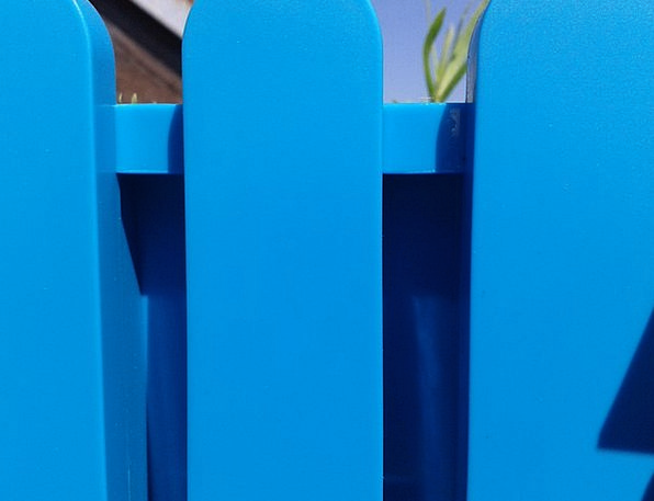 Fence Barrier Azure Plastic Fence Blue Colorful In