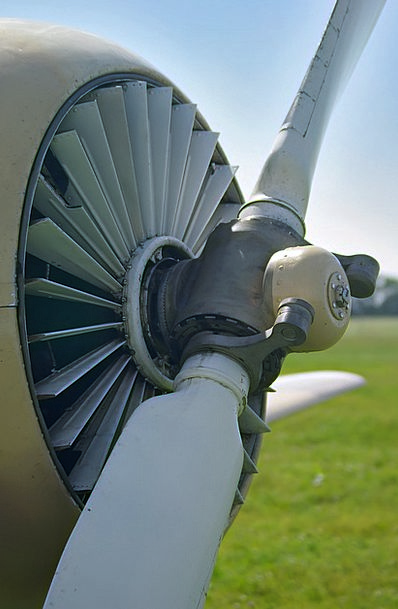 Plane Flat Straw-hat Propeller Summer