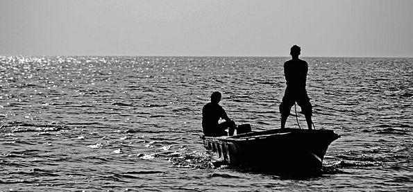 Fishermen Landscapes Ship Nature Sea Marine Boat W