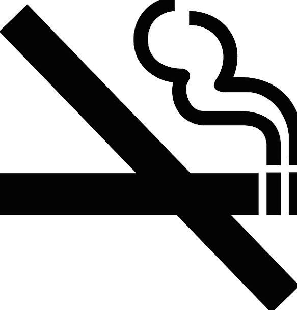 No Smoking Symbol Healthy Fit Sign Banned Forbidde