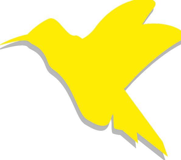 Yellow Creamy Outline Bird Fowl Silhouette Sky Gol