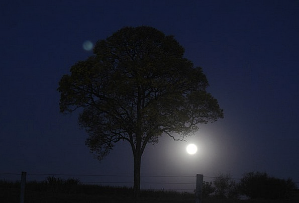 Night Nightly Landscapes Countryside Nature Moon R