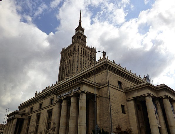 Palace Of Culture Buildings Architecture Poland Wa