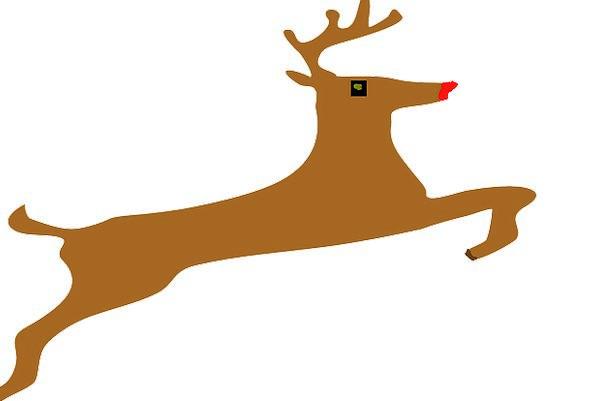 Reindeer Deer Stag Jumping Hopping Free Vector Gra