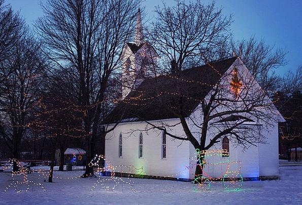 Christmas Church Landscapes Nature Holiday Church