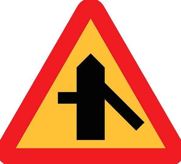 Merge Sign Connection Roadsign Intersection Road S
