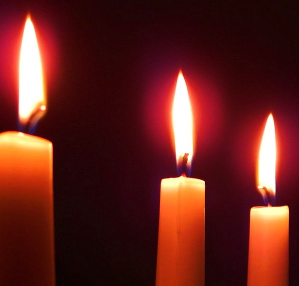 Candles Tapers Fires Darkness Flames Three Candle