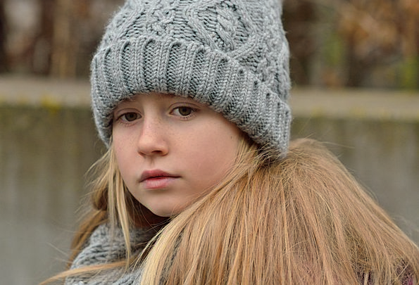 Child Youngster Lassie Long Hair Girl Blond Fair-h