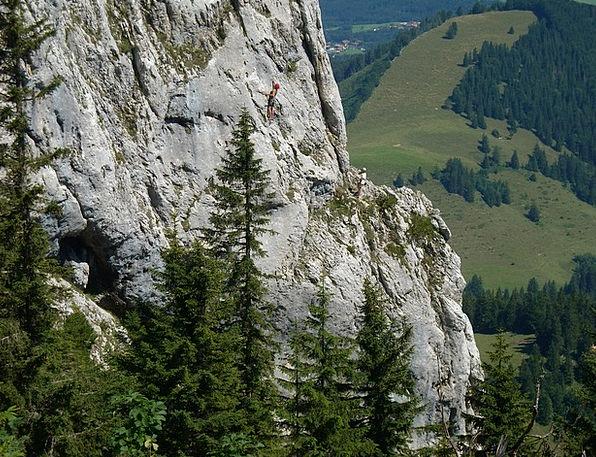 Free Climbing Hiker Kampenwand Mountaineer Rock Pi