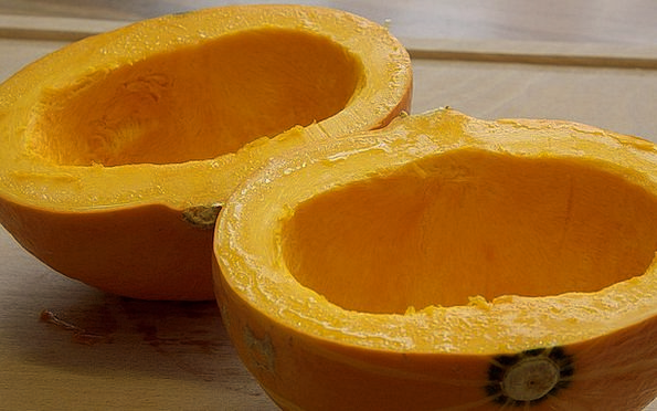 Pumpkin Drink Food Pulp Tissue Pumpkin Halves Cut