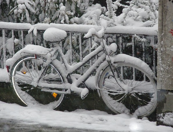 Snow Snowflake Season Bike Motorbike Winter Snowed
