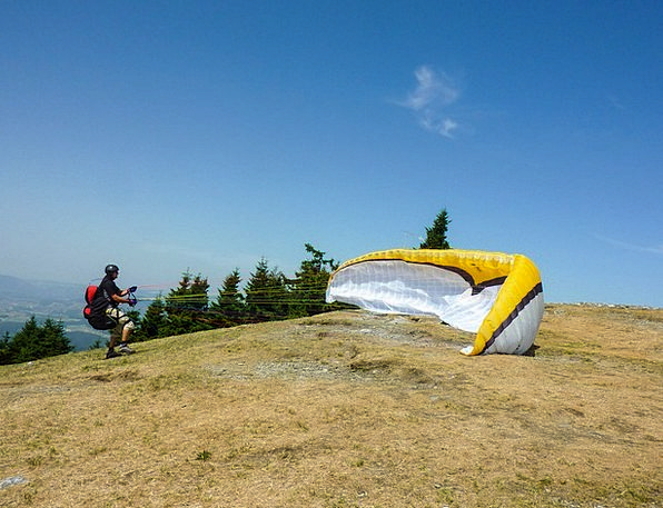 Clipping Stage Start Twitch Paragliding Sport Wind