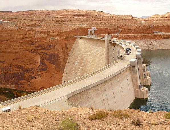 Glen Canyon Dam Colorado River Arch Gravity Dam Ar