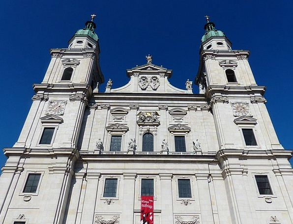 Salzburg Cathedral Frontage Cathedral Square Facad