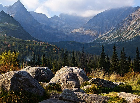 The High Tatras Landscapes Nature The Stones Bould