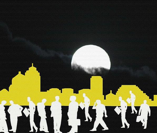 Businessman Manufacturer Nightly City-Scape Night