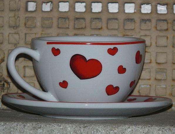 Cup Mug Emotion Love Darling Heart Porcelain China