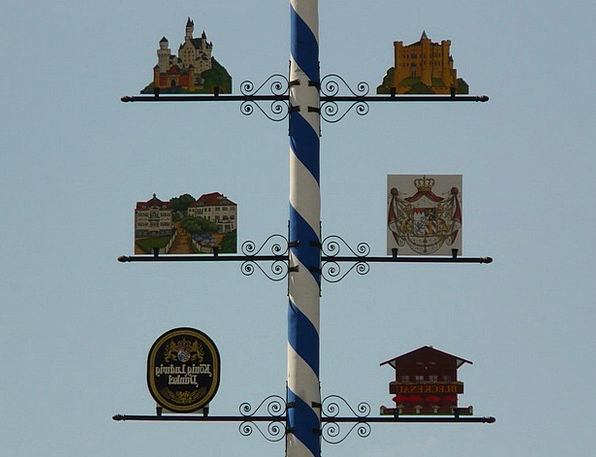 Maypole Column May Might Bavaria Festival Centenar