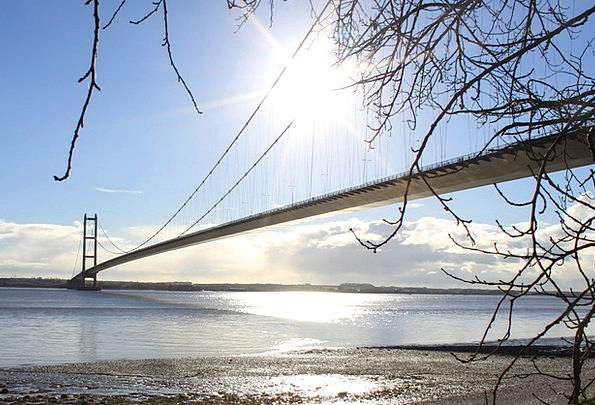 Humber Bridge Bond Suspension Bridge Viaduct Bridg