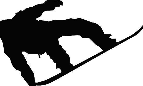 Snowboard Silhouette Outline Snowboarder Lifestyle