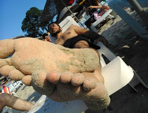 Feet Bases Dirty Sand Shingle Sandy Toes Beach Rel
