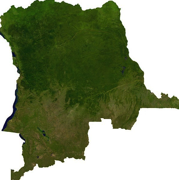 Of The Congo Land Terrestrial Aerial View Map Char