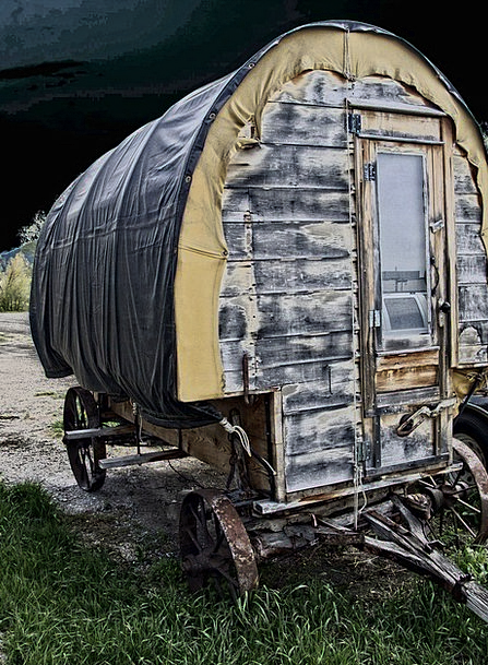 Chuck Chock Carriage Wild West Wagon Heritage Inhe